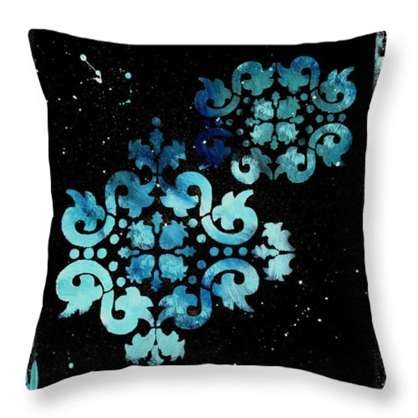 Abstract Art Original Decorative Painting Mysterious By Madart Throw Pillow by Megan Duncanson