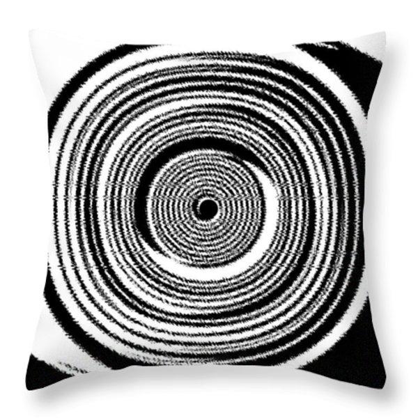 Abstract Clock Spring Throw Pillow by Will Borden