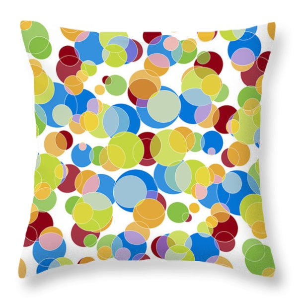 Abstract Color Throw Pillow by Frank Tschakert