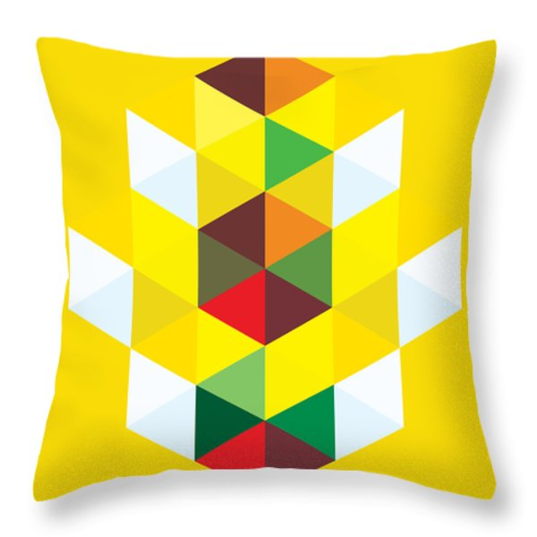 Abstract Cubes Throw Pillow by Gary Grayson