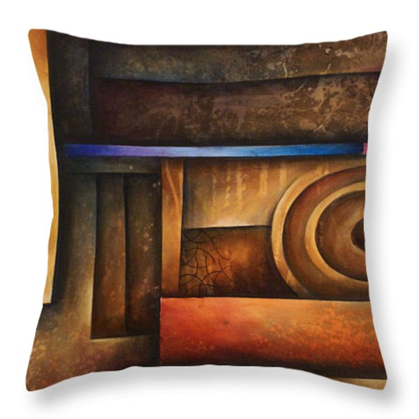abstract design 30 Throw Pillow by Michael Lang