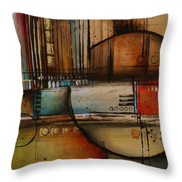 Abstract Design 77 Throw Pillow by Michael Lang