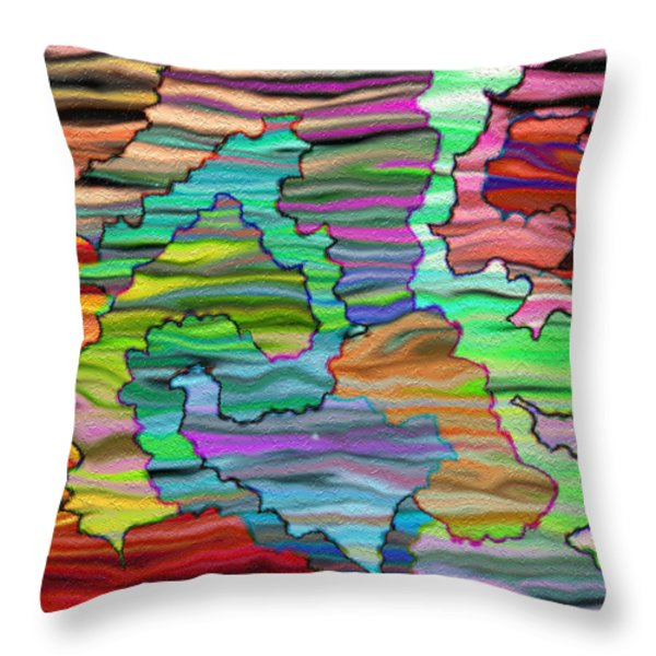 Abstract Emotions  Throw Pillow by Gina Lee Manley