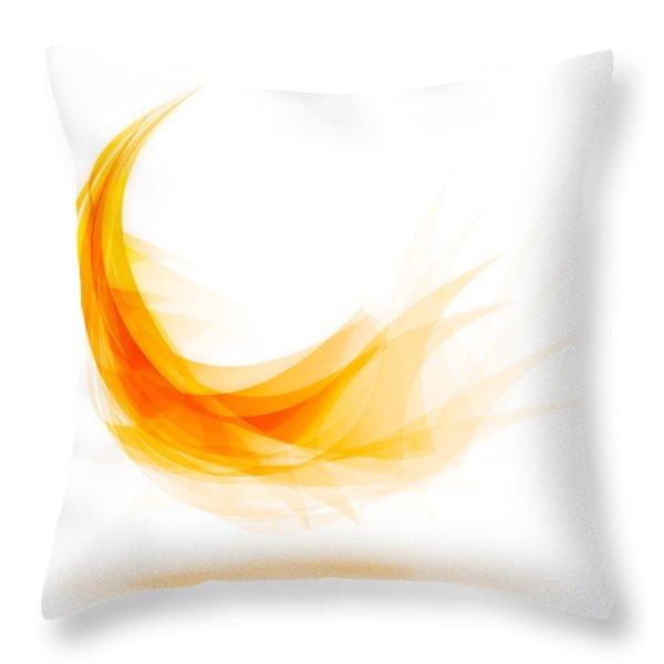 Abstract feather Throw Pillow by Setsiri Silapasuwanchai