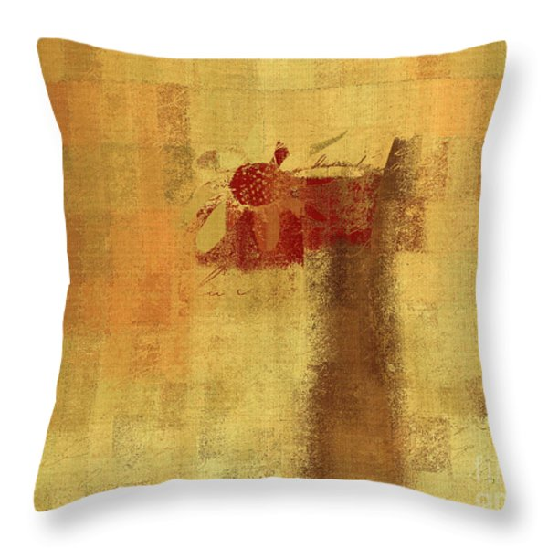 Abstract Floral - 14v2ft Throw Pillow by Variance Collections