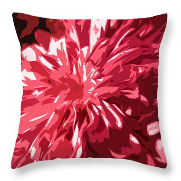 Abstract Flowers Throw Pillow by Sumit Mehndiratta