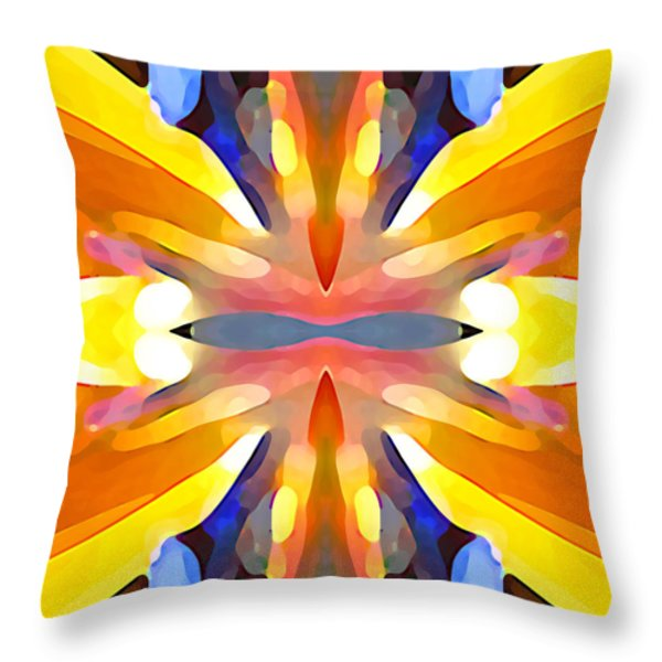 Abstract Paradise Throw Pillow by Amy Vangsgard