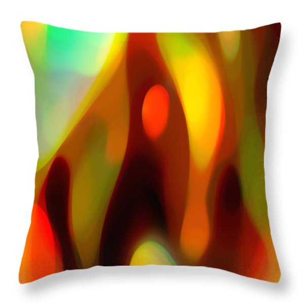 Abstract Rising Up Throw Pillow by Amy Vangsgard