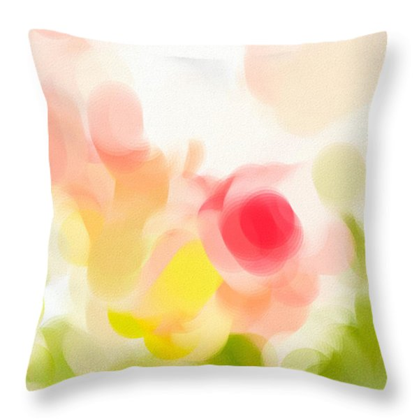 Abstract Roses Throw Pillow by Tom Gowanlock