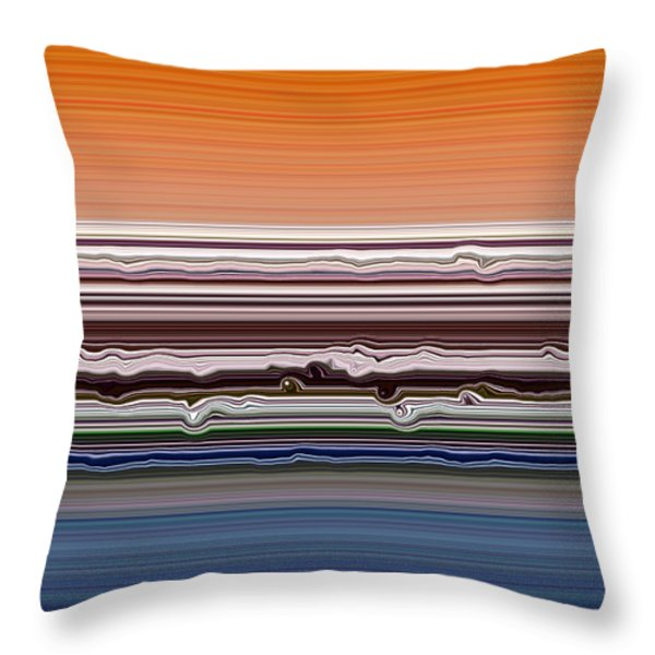 Abstract Sunset Throw Pillow by Michelle Calkins