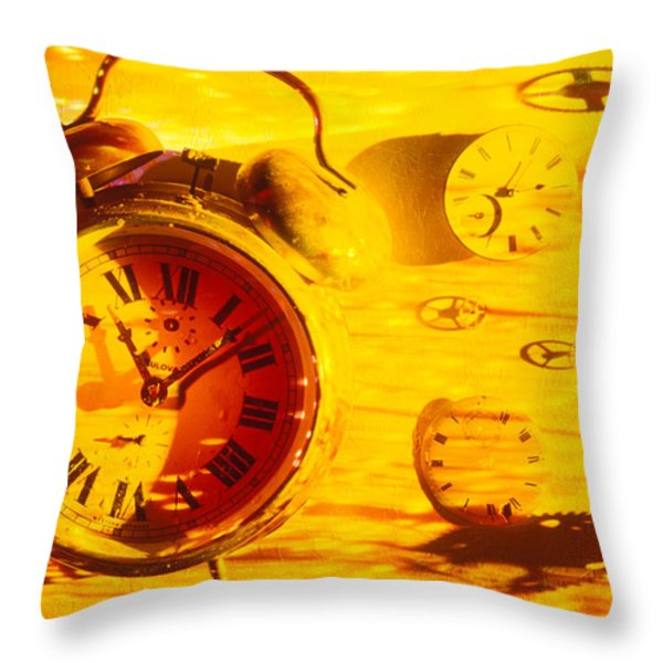 Abstract time Throw Pillow by Garry Gay