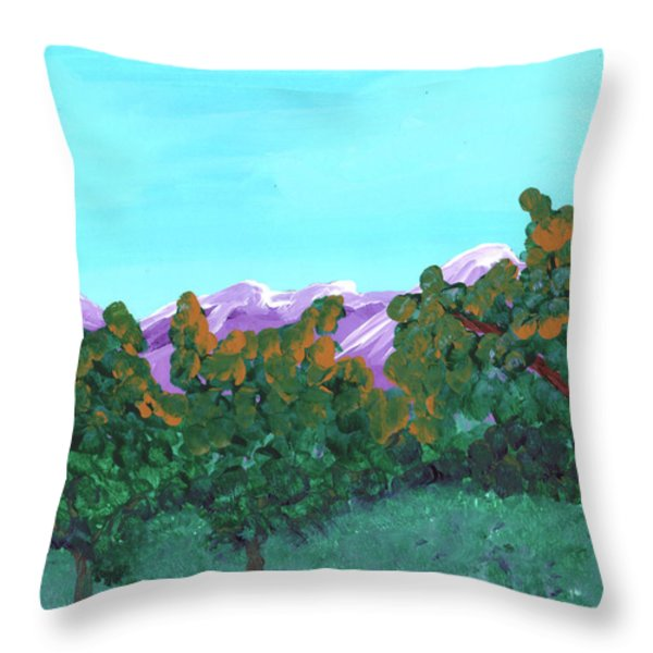 Abstract Trees Throw Pillow by Jose Valeriano