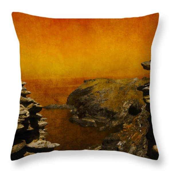 Abstract View Throw Pillow by Svetlana Sewell