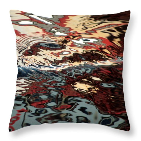 Abstract Water Reflection 64 Throw Pillow by Andrew  Hewett