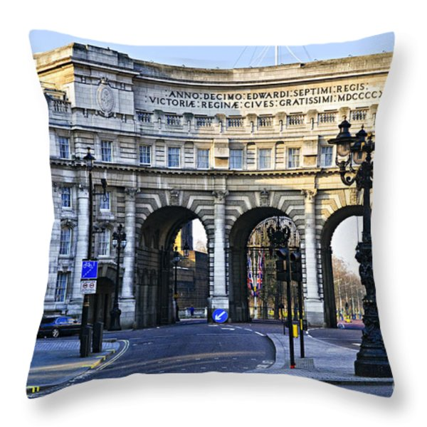 Admiralty Arch In Westminster London Throw Pillow by Elena Elisseeva