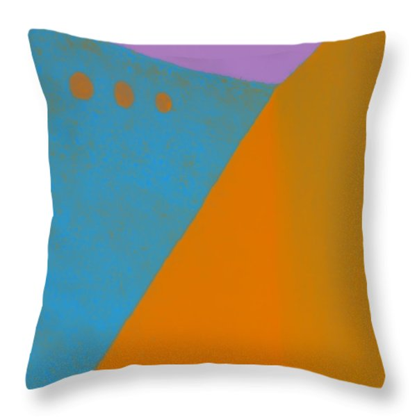 Adobe Walls Number 2 Throw Pillow by Carol Leigh