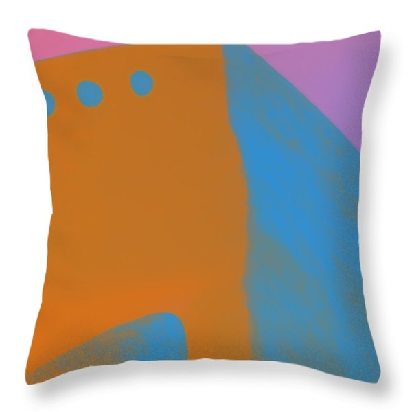 Adobe Walls Number 4 Throw Pillow by Carol Leigh