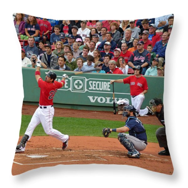 Adrian Gonzalez Throw Pillow by Juergen Roth