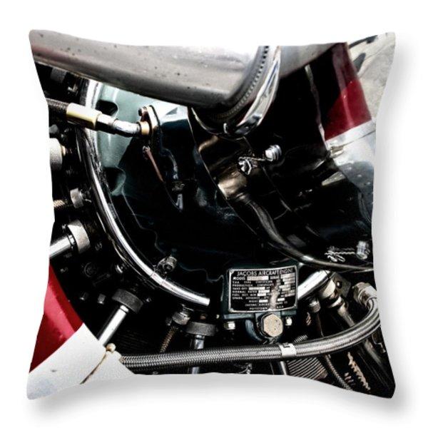 Aero Machine 6 Throw Pillow by Nathan Larson