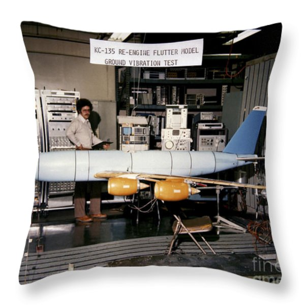 Aflutter Model Of A Kc-135 Stratotanker Throw Pillow by Stocktrek Images
