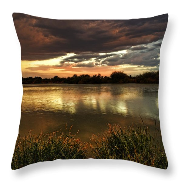 Afterglow Throw Pillow by Saija  Lehtonen