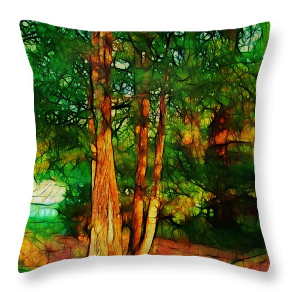 Afternoon Delight Throw Pillow by Judi Bagwell