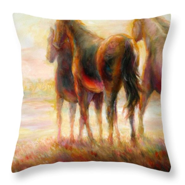 Afternoon Glow Throw Pillow by Bonnie Goedecke