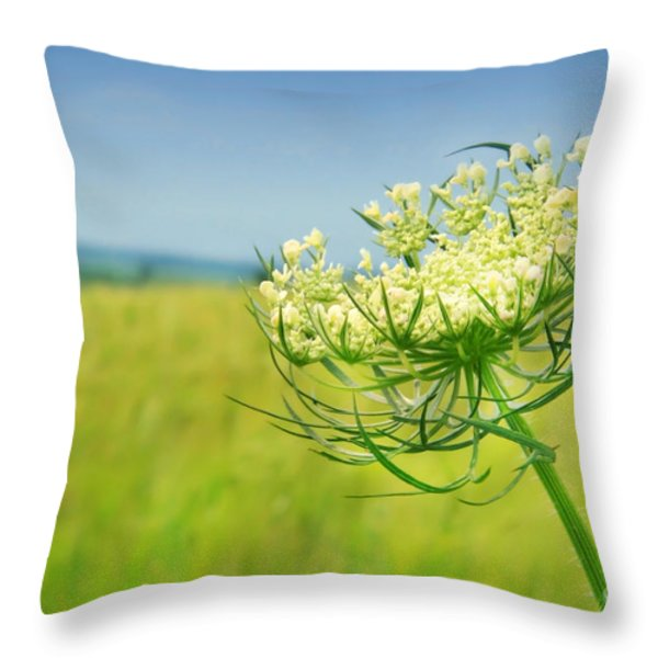 Against the blue sky Throw Pillow by Sandra Cunningham
