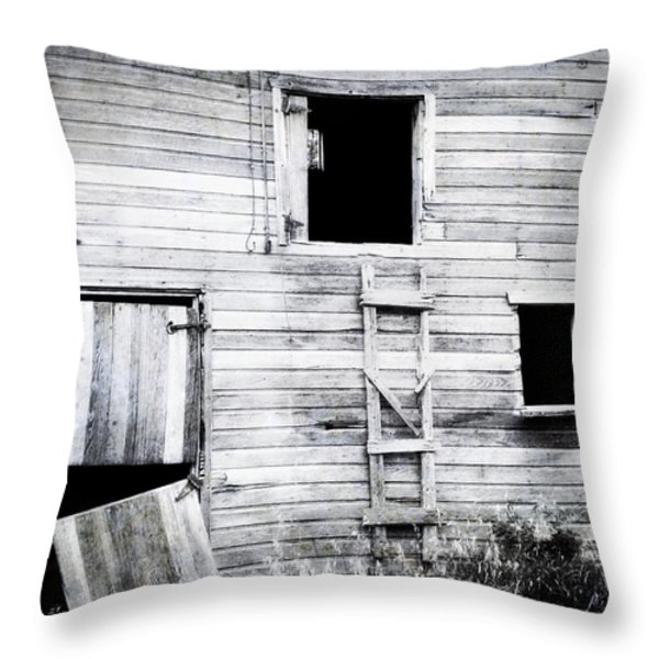 Aging Barn Throw Pillow by Julie Hamilton