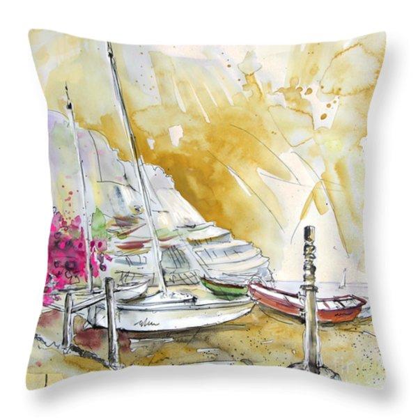 Agua Amarga 13 Throw Pillow by Miki De Goodaboom