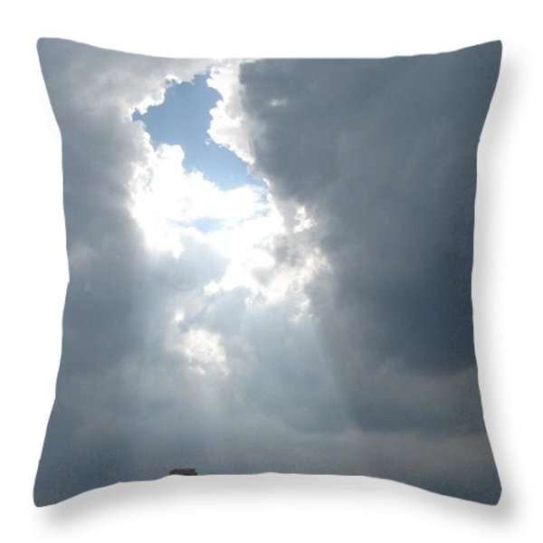 Ahhhh Throw Pillow by Catie Canetti