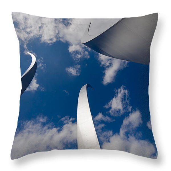Air Force Memorial Throw Pillow by Louise Heusinkveld