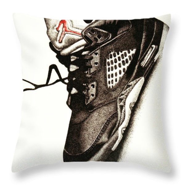 Air Jordan Throw Pillow by Robert Morin