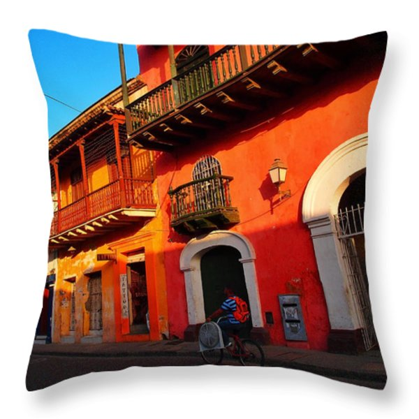 Aire Acondicionado Throw Pillow by Skip Hunt