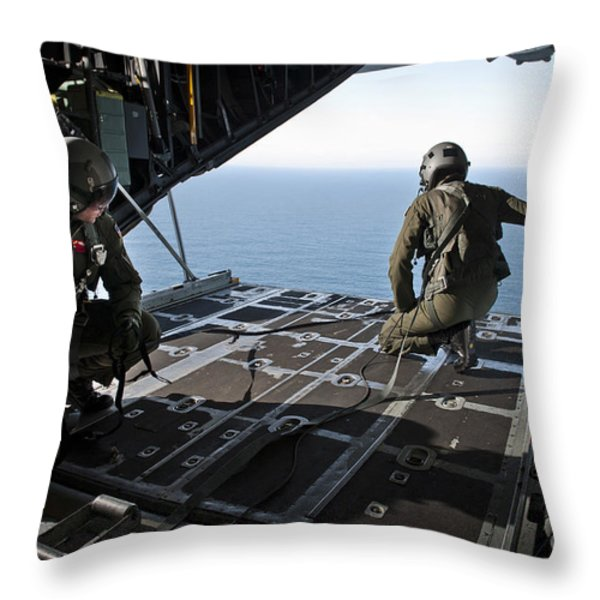 Airmen Wait For The Signal To Deploy Throw Pillow by Stocktrek Images