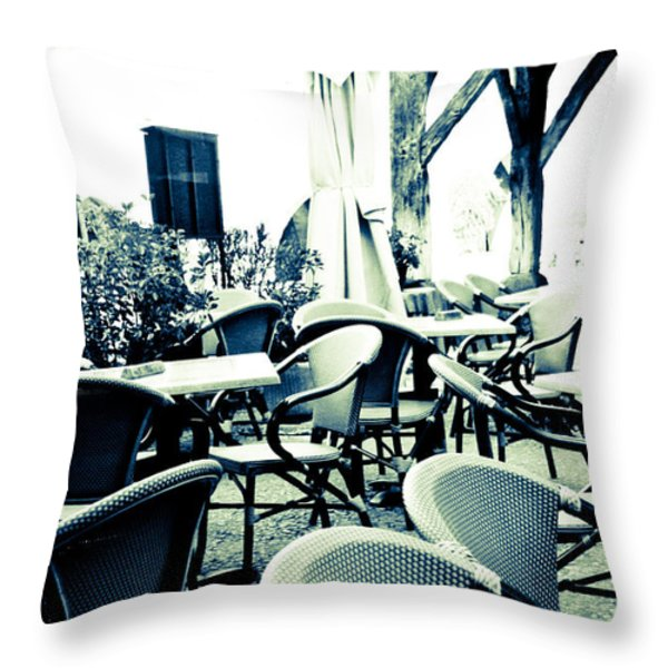 Al Fresco  Throw Pillow by Nomad Art And  Design