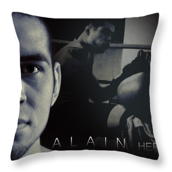 Alain Hernandez Mixed Martial Artist Throw Pillow by Lisa Knechtel