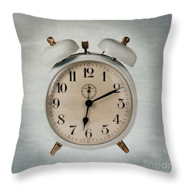 Alarm clock Throw Pillow by BERNARD JAUBERT