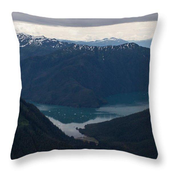 Alaska Coastal Serenity Throw Pillow by Mike Reid