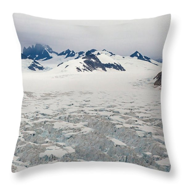 Alaska Frontier Throw Pillow by Mike Reid