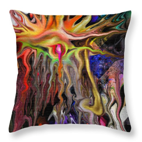 Alberich the Sorcerer Throw Pillow by Mimulux patricia no