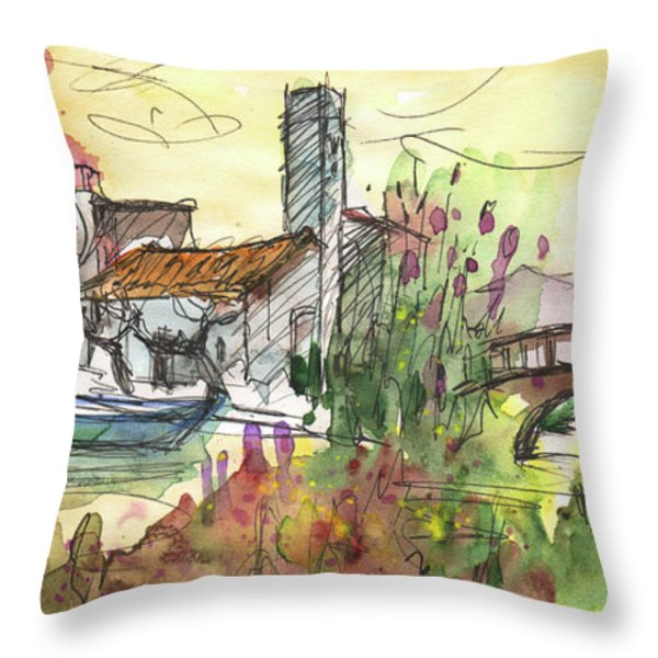 Albufera De Valencia 25 Throw Pillow by Miki De Goodaboom