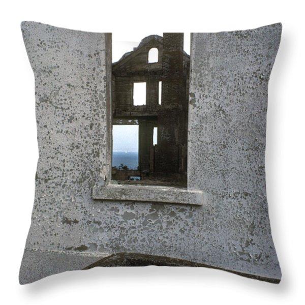 Alcatraz - windows Throw Pillow by Paul W Faust -  Impressions of Light