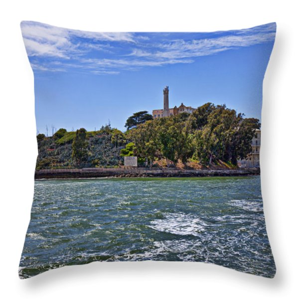 Alcatraz Island San Francisco Throw Pillow by Garry Gay