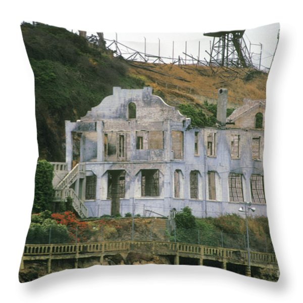 Alcatraz Skeleton Throw Pillow by Paul W Faust -  Impressions of Light