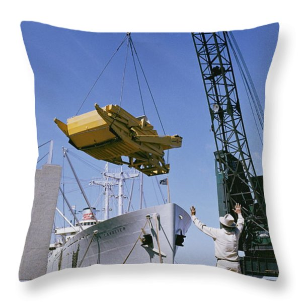 Alcoa Ship Destines For South America Throw Pillow by Justin Locke