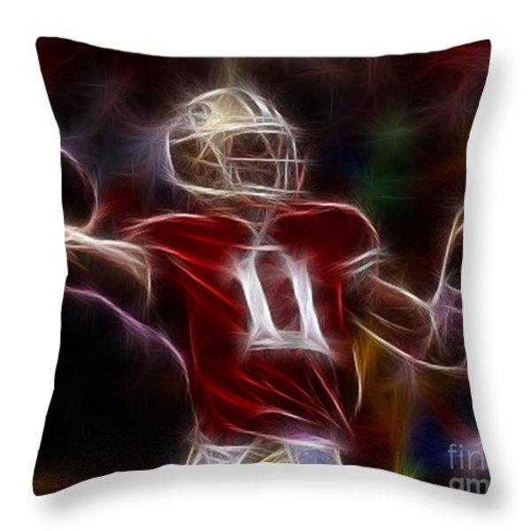 Alex Smith - 49ers Quarterback Throw Pillow by Paul Ward
