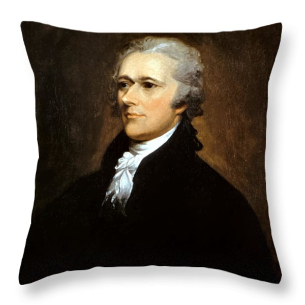 Alexander Hamilton Throw Pillow by War Is Hell Store