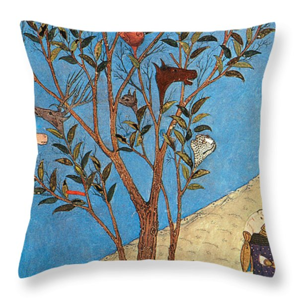 Alexander The Great At The Oracular Tree Throw Pillow by Photo Researchers
