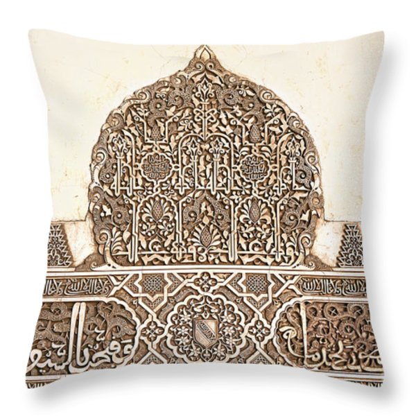 Alhambra relief Throw Pillow by Jane Rix